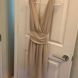 French connection nude silk dress size 6
